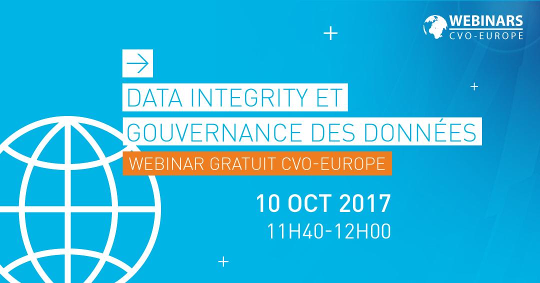 Webinar Data Integrity et Gouvernance des données CVO-EUROPE