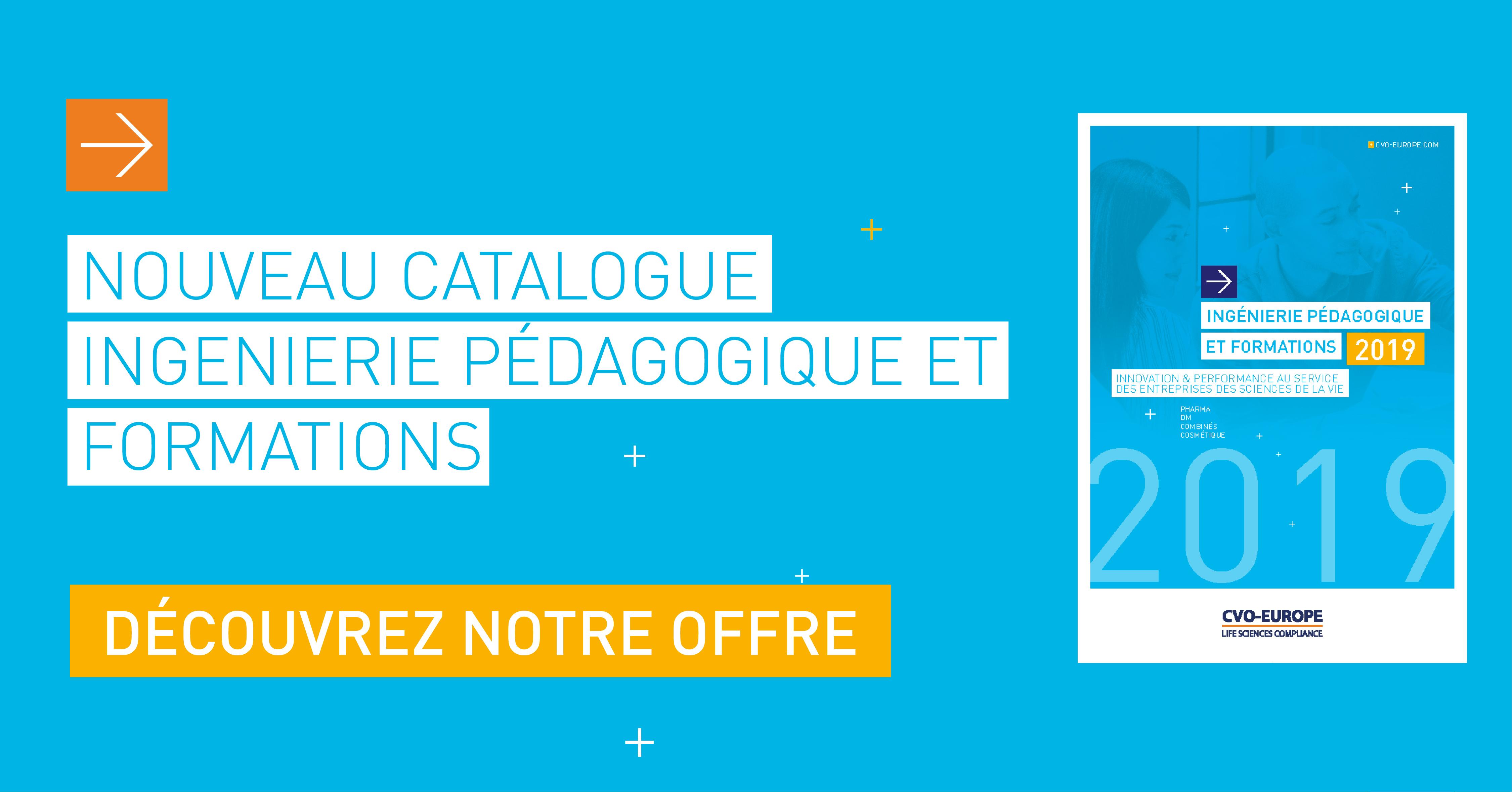 nouveau catalogue ingénierie pédagogique et formations CVO-EUROPE