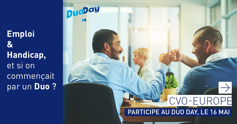 CVO-EUROPE participe à l'insertion professionnelle des personnes en situation de handicap à l'occasion du DuoDay
